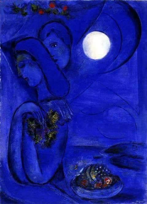 Omaggio alla luna – Poesie, frasi, citazioni, canzoni - Dipinto di Chagall