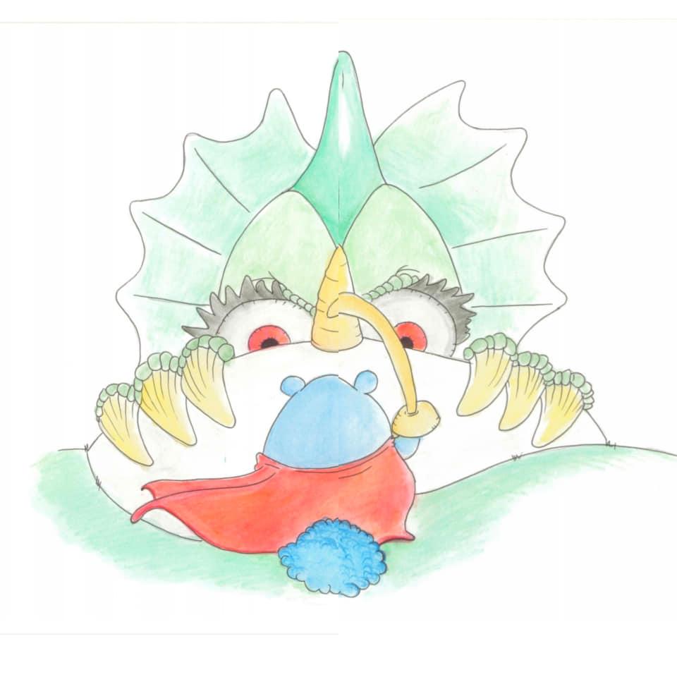 Storia illustrata per bambini - Il Lopolottolo di Maria Letizia del Zompo - Il drago