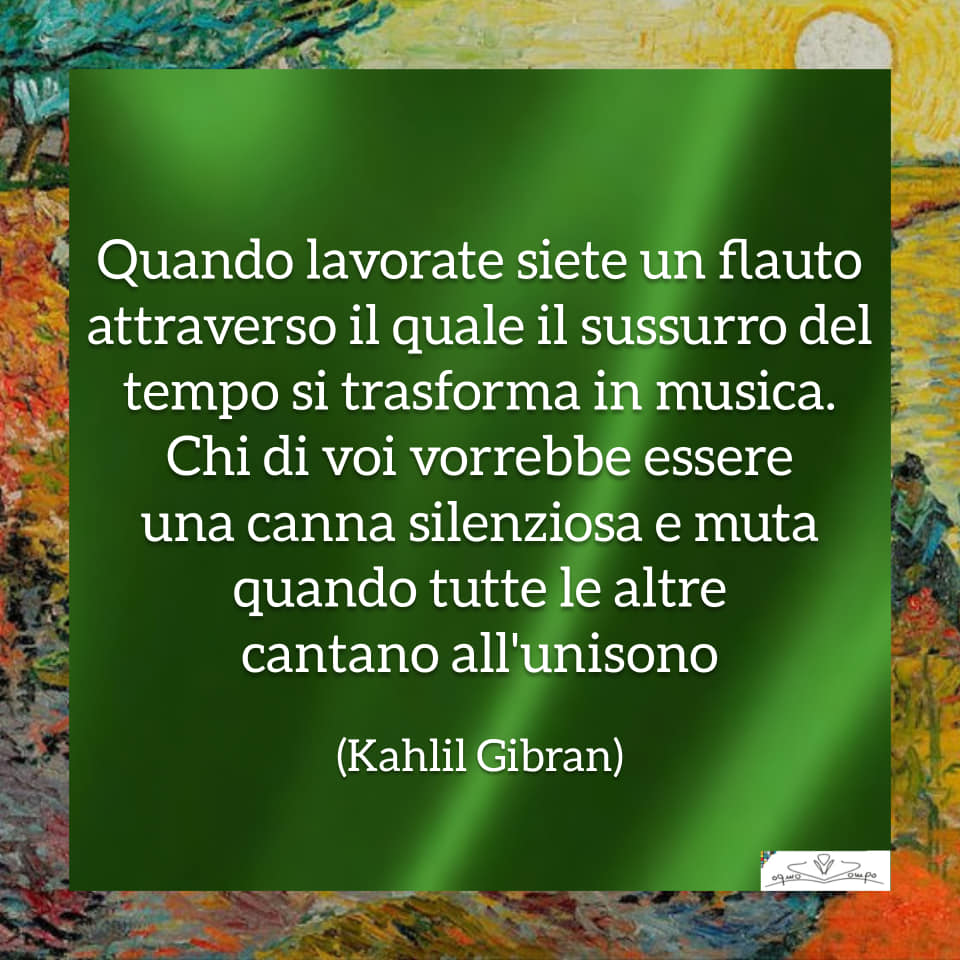 Festa dei lavoratori - Poesia - Kahlil Gibran