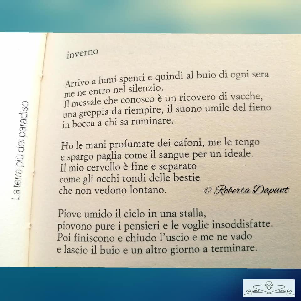 """Festa dei lavoratori - Poesia - Roberta Dapunt dalla raccolta """"La terra più del Paradiso"""""""