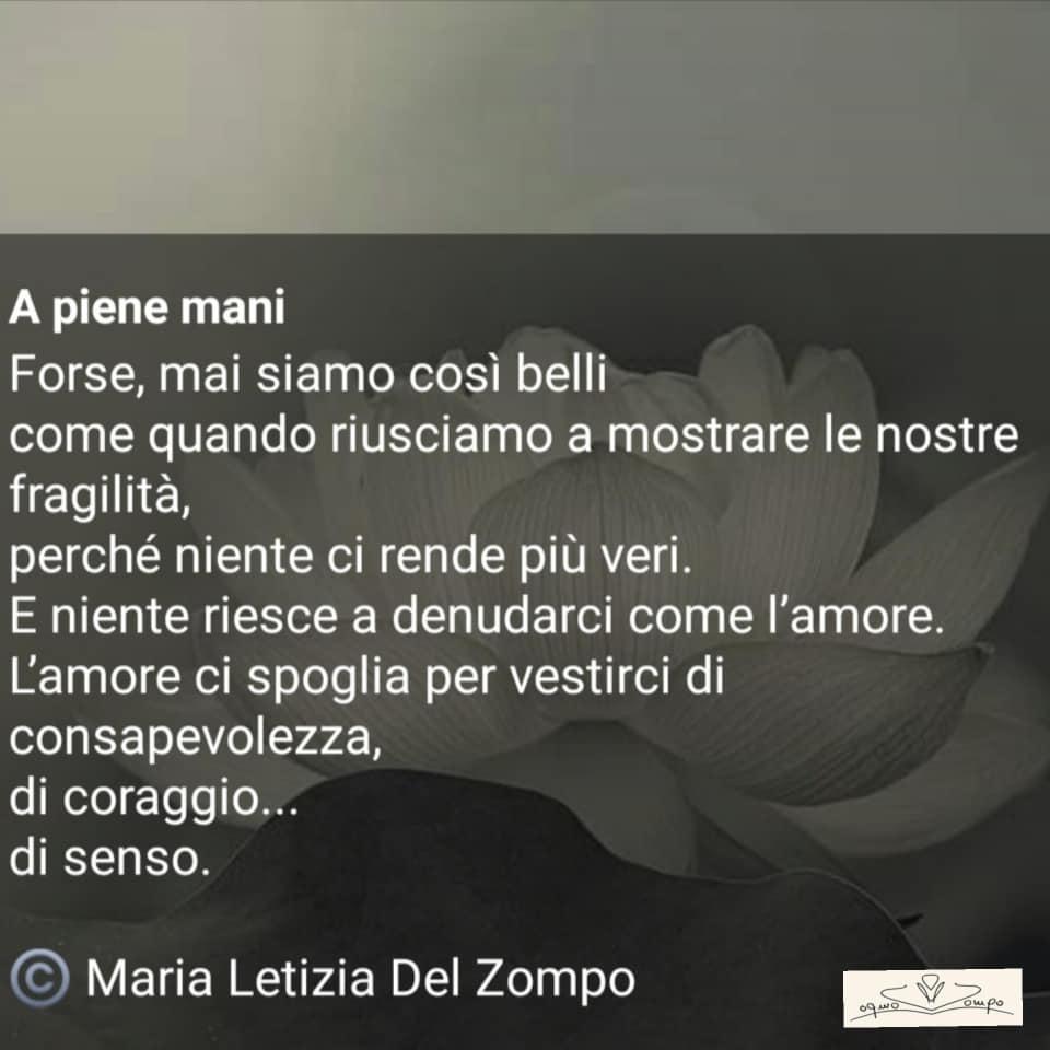 POESIE E PENSIERI SULLA VITA - Maria Letizia Del Zompo - La bellezza della fragilità.