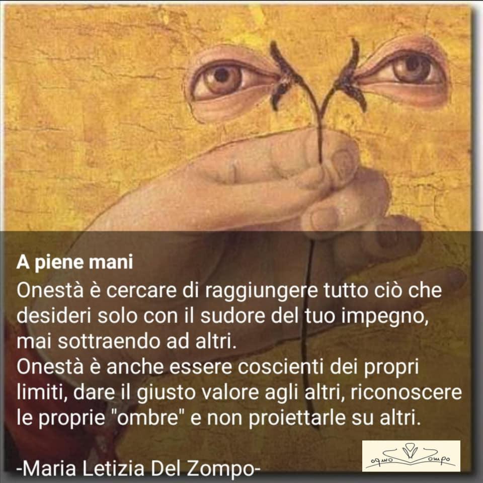 POESIE E PENSIERI SULLA VITA - Maria Letizia Del Zompo - Sull'onestà