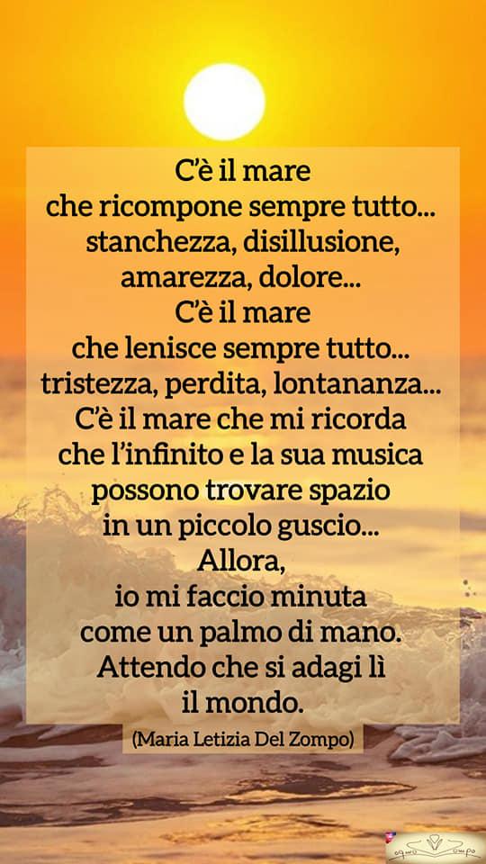 Poesie sulla gioia e la felicità - C'è il mare - Maria Letizia Del Zompo