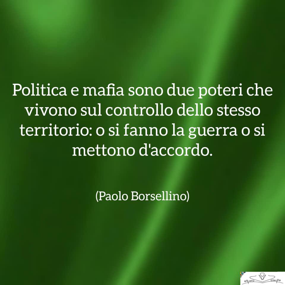 Festa della Liberazione - Frase di Borsellino su politica e mafia