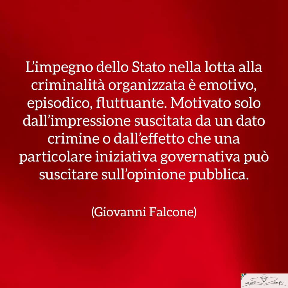 Giovanni Falcone - Frasi - Impegno dello Stato