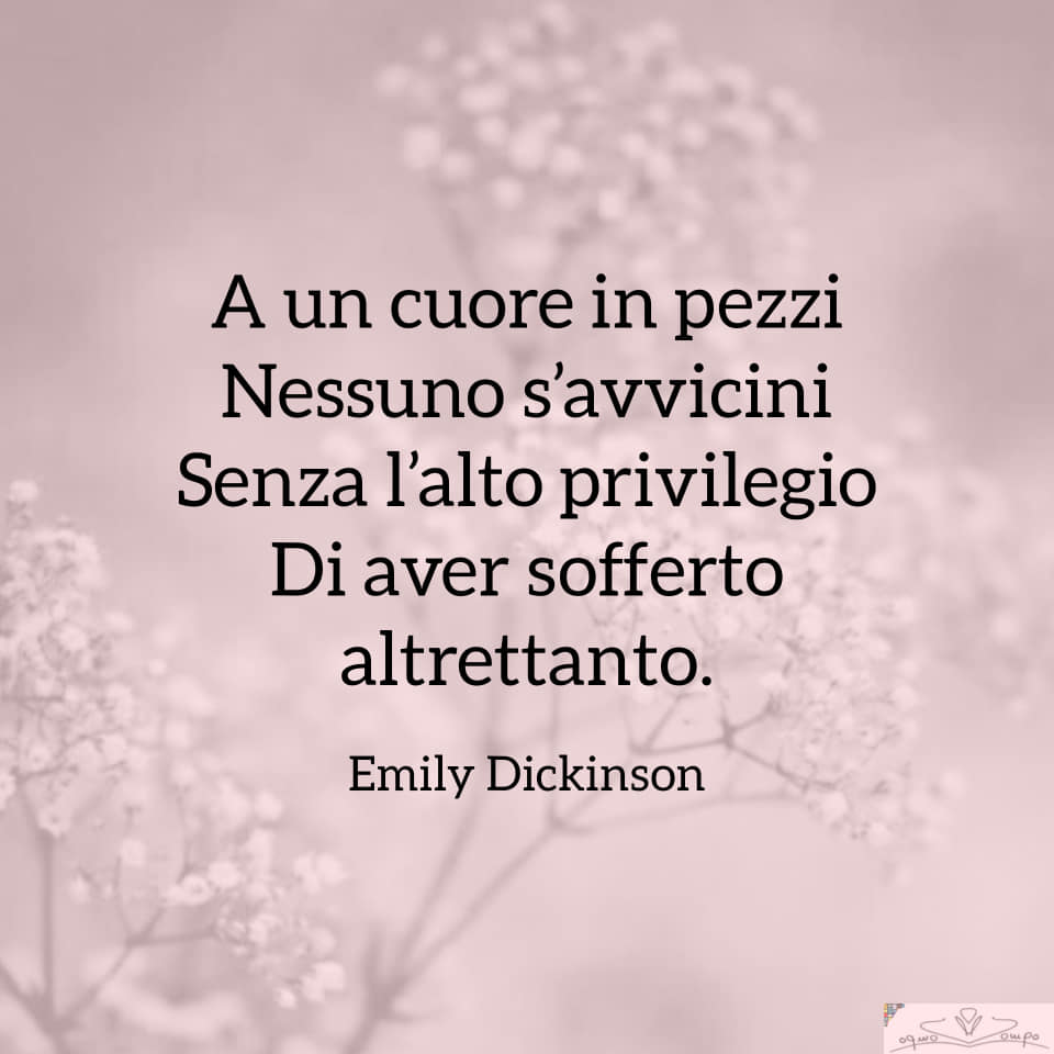 Poesie di Emily Dickinson - A un cuore in pezzi