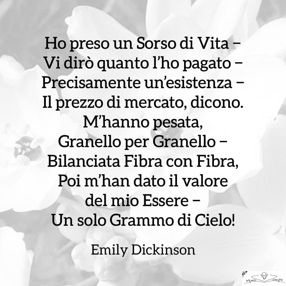 Poesie di Emily Dickinson - Ho preso un sorso di vita