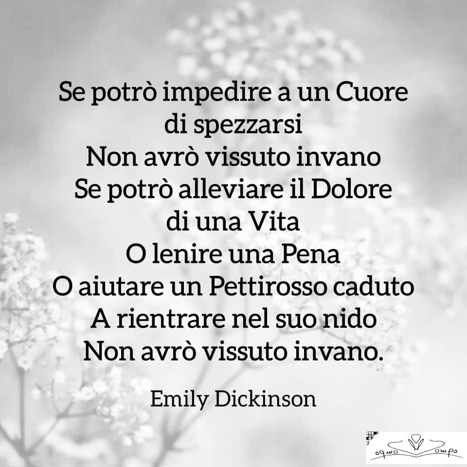 Poesie di Emily Dickinson - Se potrò impedire a un cuore di spezzarsi