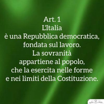 Festa della Repubblica - Articolo 1 dell Costituzione
