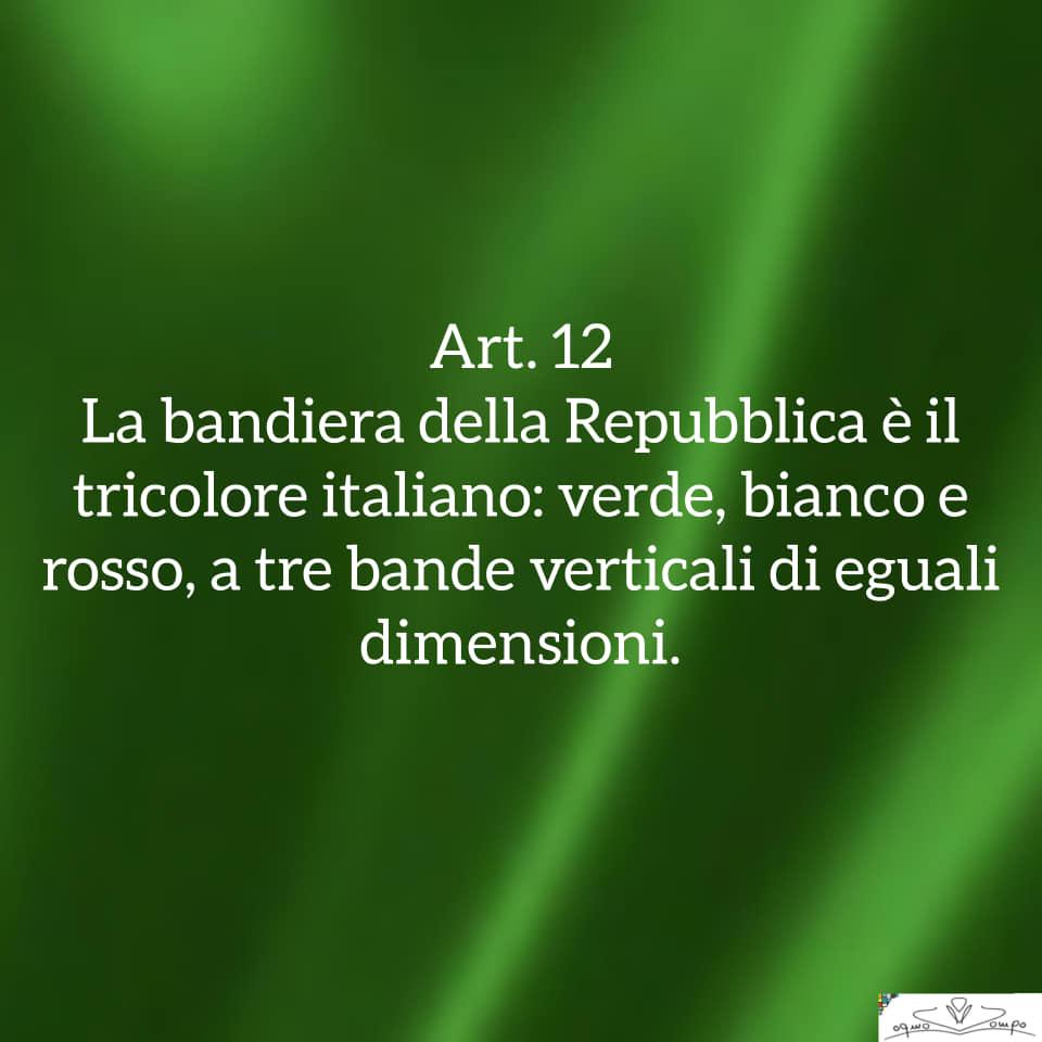 Festa della Repubblica - Costituzione - Articolo 12