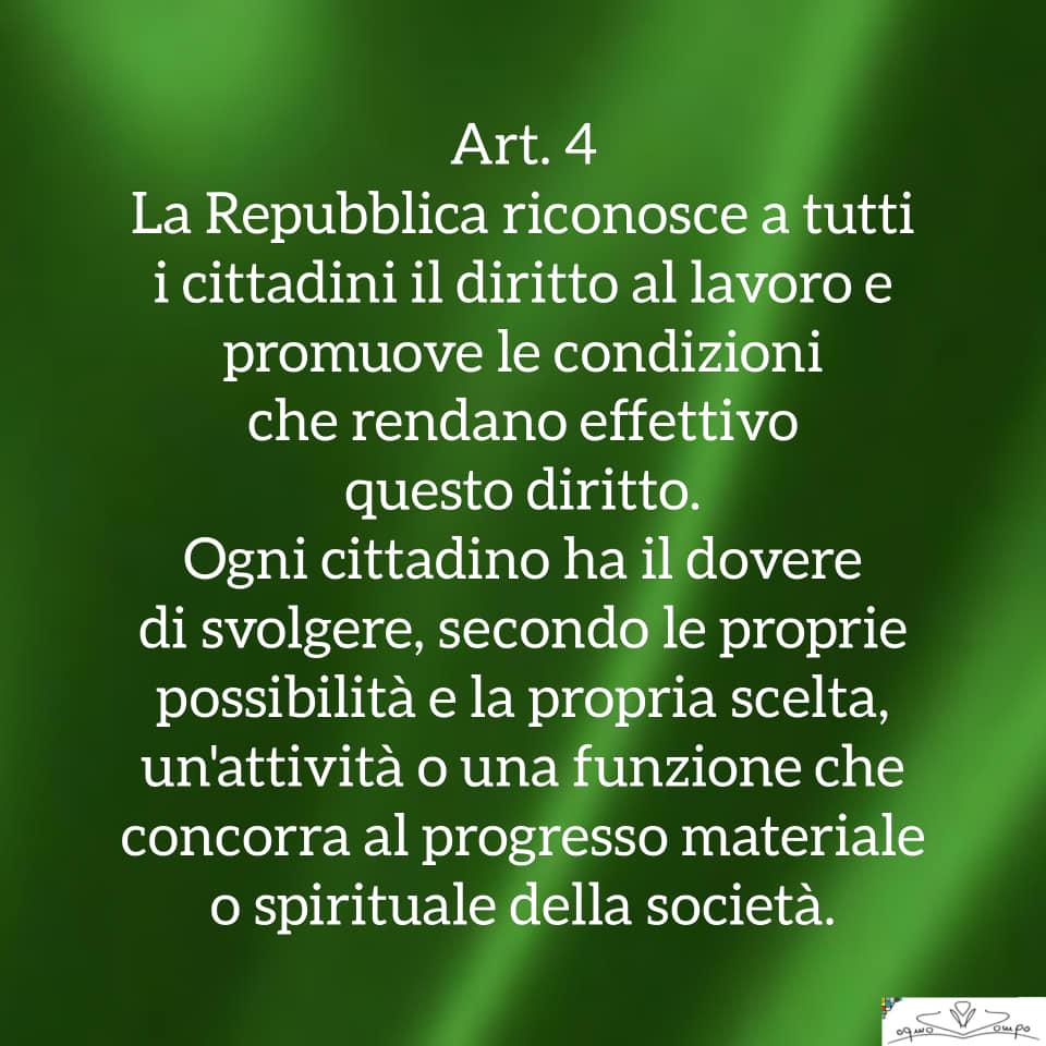 Festa della Repubblica - Costituzione - Articolo 4