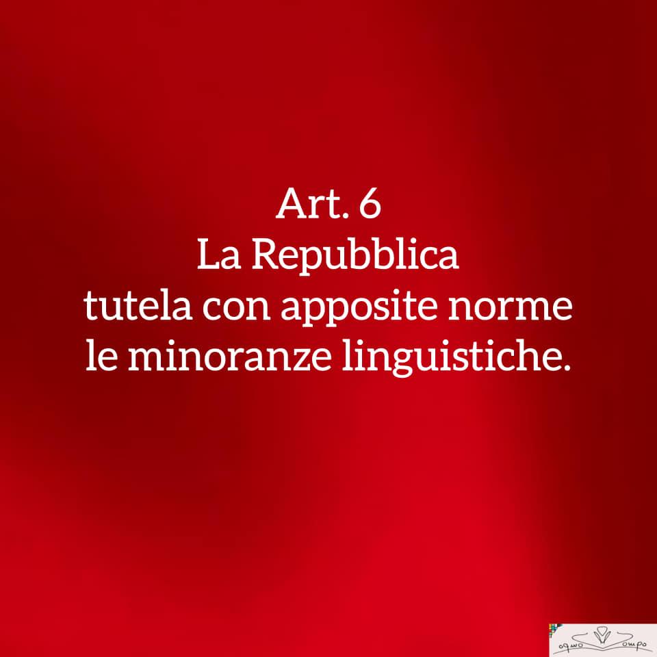 Festa della Repubblica - Costituzione - Articolo 6