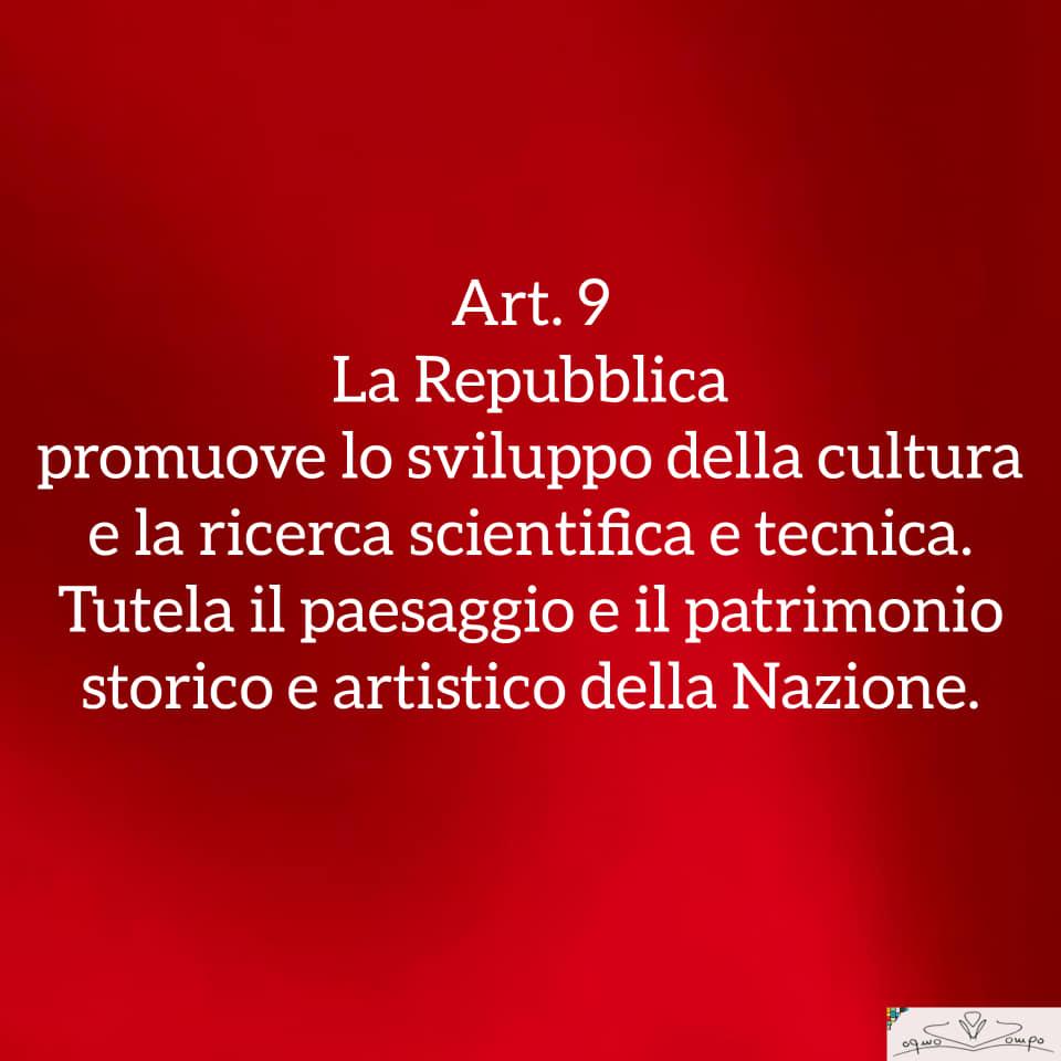 Festa della Repubblica - Costituzione - Articolo 9