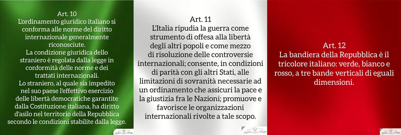 Festa della Repubblica - Bandiera italiana - Articoli Costituzione 10-12