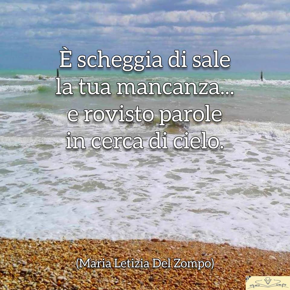 Poesie sul mare - è scheggia di sale - Maria Letizia Del Zompo