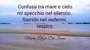 Poesie sul mare - Confusa tra mare e cielo - Maria Letizia Del Zompo