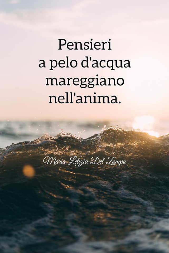 Poesie sul mare - Pensieri a pelo d'acqua - Maria Letizia Del Zompo